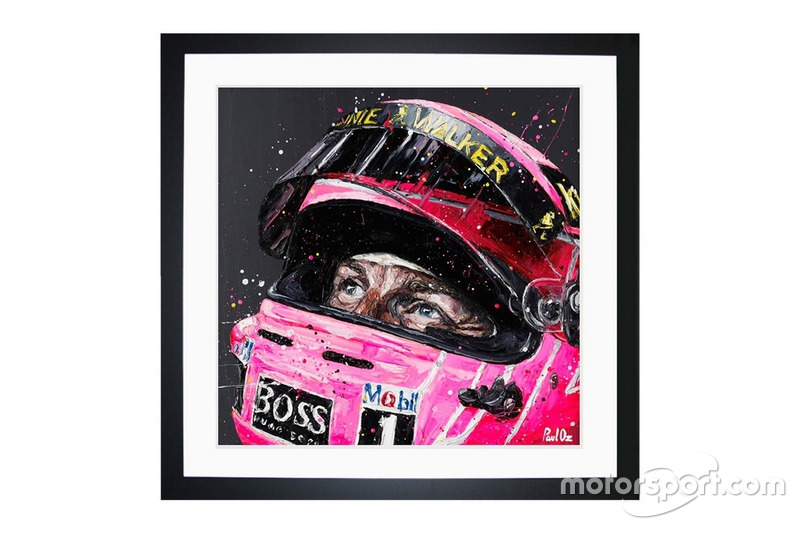 Peinture de Jenson Button par Paul Oz