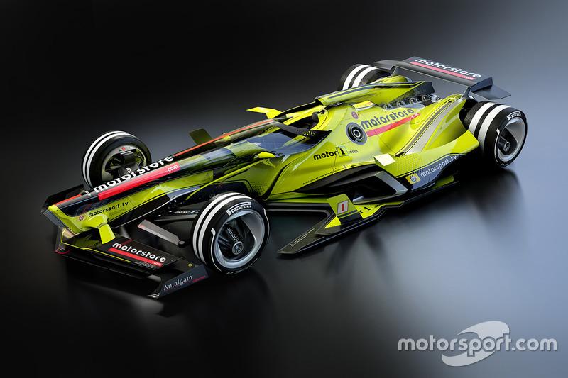 تصميم مستقبلي متخيّل لسيارات الفورمولا واحد
