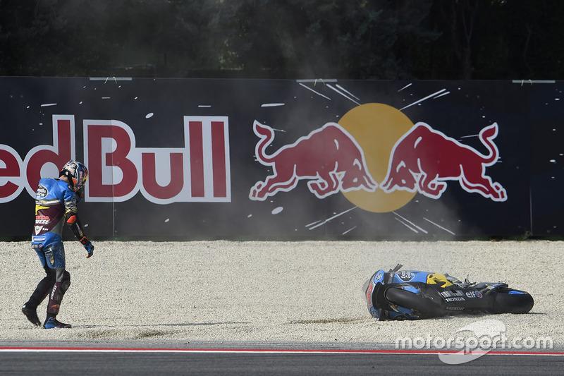 Jack Miller, Marc VDS Racing Honda crash
