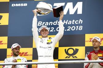Podium: Race winner Gary Paffett, Mercedes-AMG Team HWA