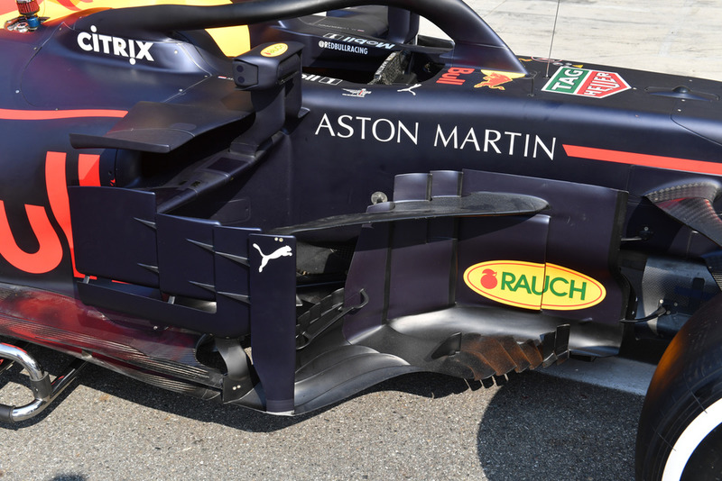 Un ponton de Red Bull Racing RB14