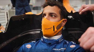 McLaren ajuste del asiento Ricciardo