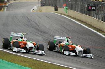 Paul di Resta, Sahara Force India Formula One Team VJM04 und Adrian Sutil, Sahara Force India Formula One Team VJM04