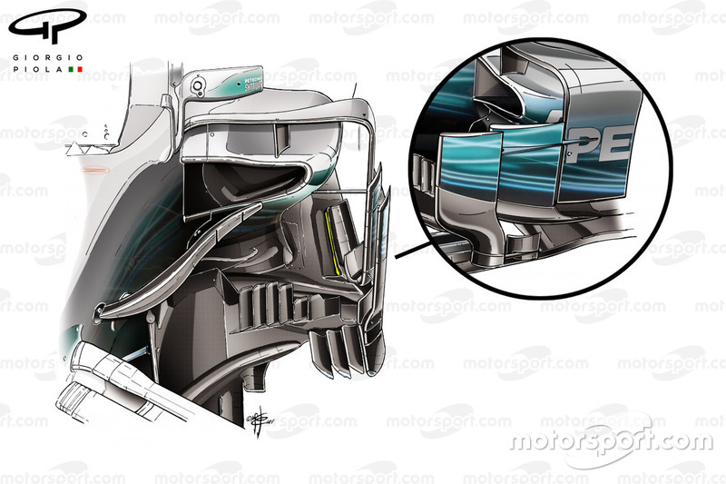 Mercedes W08 bargeboards
