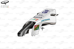 Force India VJM07 new nose (shorter and reshaped wing pillars)