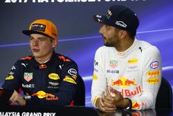 Max Verstappen, Red Bull Racing, race winner, third place Daniel Ricciardo, Red Bull Racing, in the Press Conference