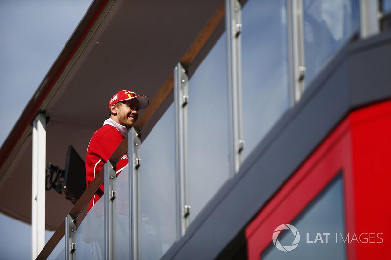 Sebastian Vettel, Ferrari, in der Ferrari-Hospitality
