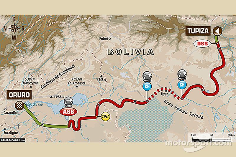 5. Etappe: Tupiza - Oruro