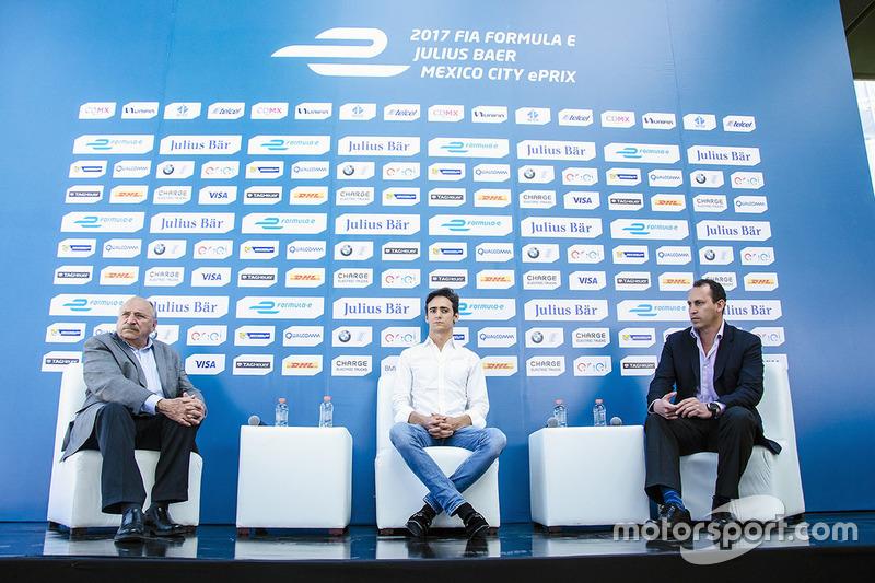 José Abed Vicepresidente de FIA, Esteban Gutiérrez, Techeetah y Horacio De La Vega director deportes CDMX