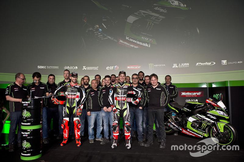 Tom Sykes, Jonathan Rea, Kawasaki Racing con el equipo