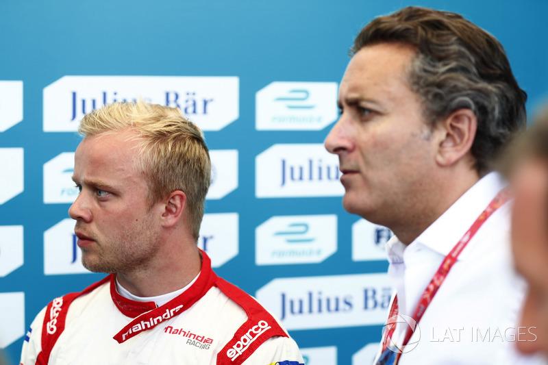 Felix Rosenqvist, Mahindra Racing, mit Alejandro Agag, Formel-E-Boss