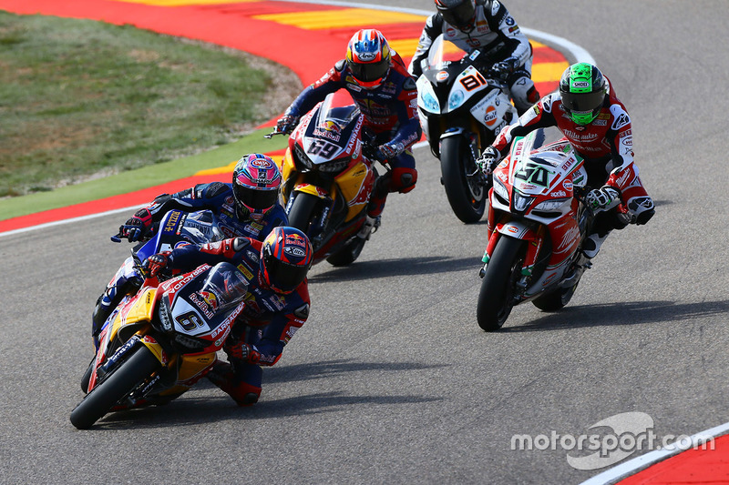 Stefan Bradl, Honda World Superbike Team; Alex Lowes, Pata Yamaha