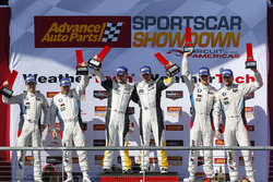 GTLM podium: winners Antonio Garcia, Jan Magnussen, Corvette Racing, second place Bill Auberlen, Alexander Sims, BMW Team RLL, third place, John Edwards, Martin Tomczyk, BMW Team RLL