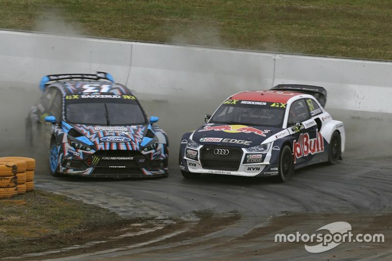 Andreas Bakkerud, Hoonigan Racing Division, Ford Focus RSRX, Toomas Heikkinen, EKS, Audi S1 EKS RX Quattro