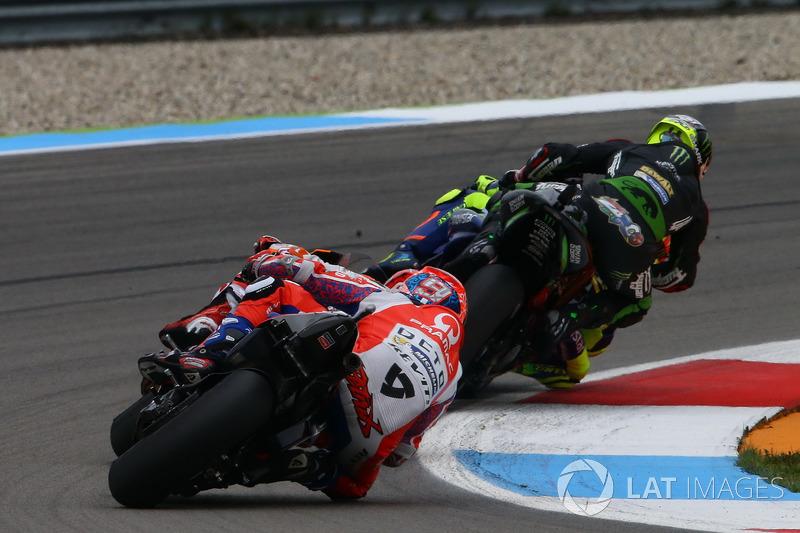 Kollision: Valentino Rossi, Yamaha Factory Racing, Johann Zarco, Monster Yamaha Tech 3, Monster Yamaha Tech 3