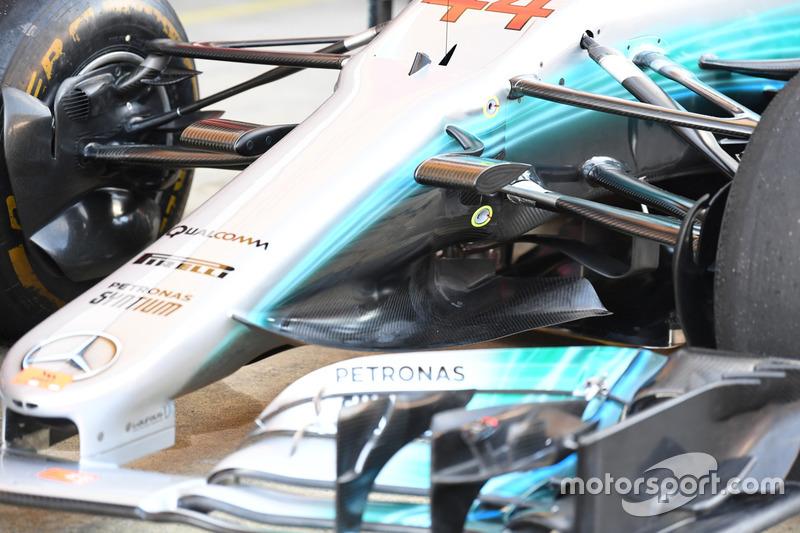 Mercedes-Benz F1 W08  detalle de la nariz