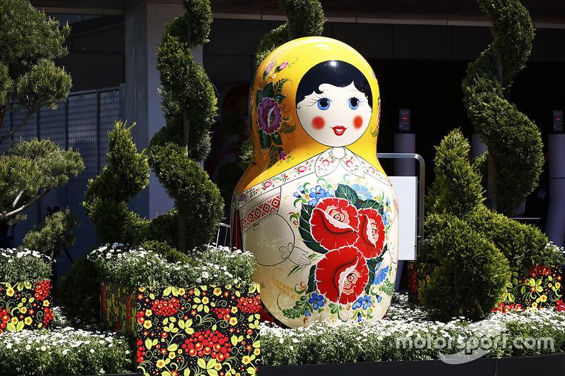 Matryoshka doll in the paddock