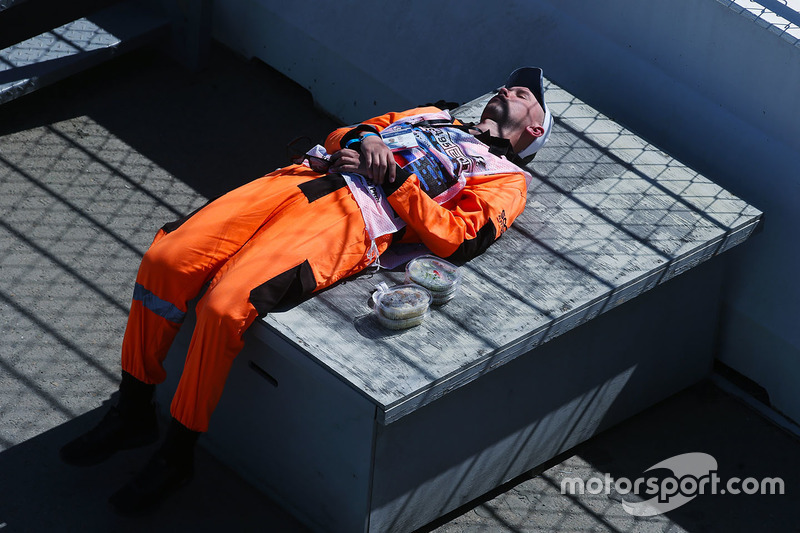A marshal rests