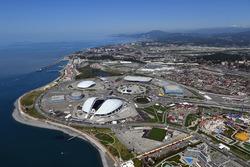 Sochi Autodrom aus der Vogelperspektive