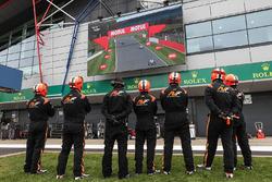 AVF team members watching the race