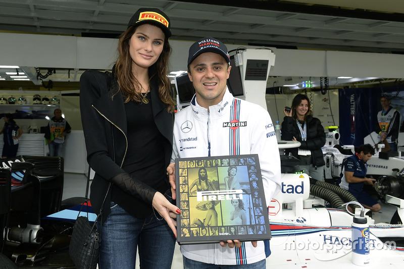 Isabeli Fontana con Felipe Massa