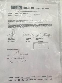 Penalità a Carlos Sainz