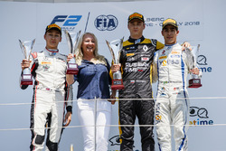 Podium: second place George Russell, ART Grand Prix, winner Artem Markelov, RUSSIAN TIME, third place Sergio Sette Camara, Carlin