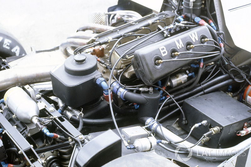 El motor BMW turbo del Brabham BT50.