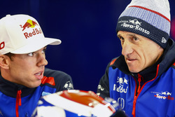 Pierre Gasly, Toro Rosso, and Franz Tost, Team Principal. Toro Rosso