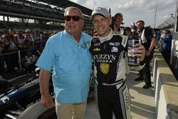 Ed Carpenter, Ed Carpenter Racing Chevrolet Verizon P1 Pole Award with Fuzzy Zoeller