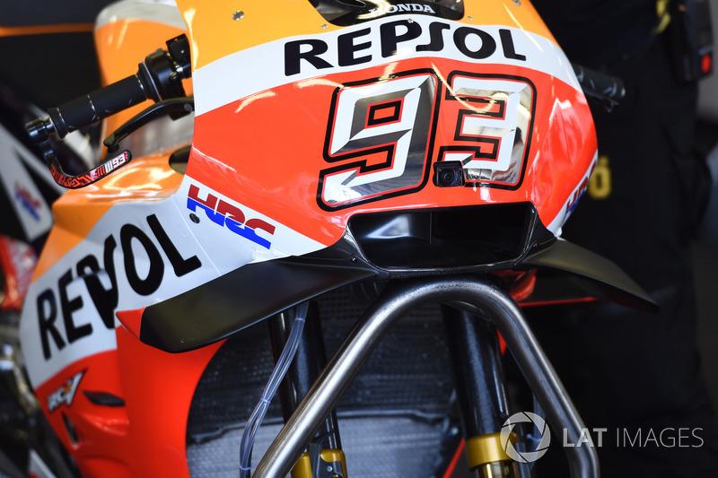 Обтічник на мотоциклі Марка Маркеса, Repsol Honda Team