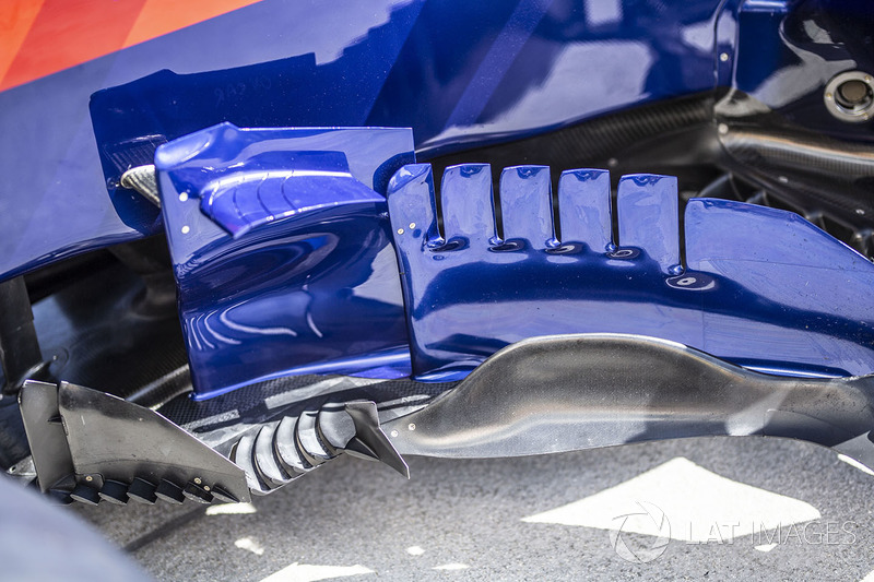 Vue détaillée des déflecteurs de la Toro Rosso STR13