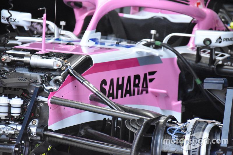 Force India VJM11 front suspension