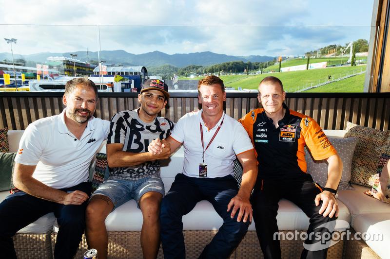 Jens Hainbach, Jorge Martin, Pit Beirer e Aki Ajo, Red Bull KTM Ajo team