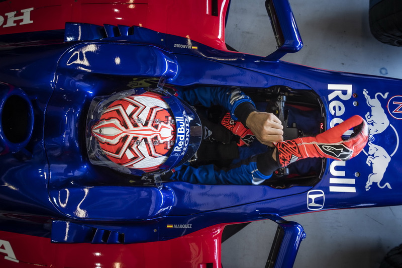 Marc Marquez in een Toro Rosso F1