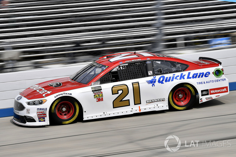 20. Paul Menard, Wood Brothers Racing, Ford Fusion Motorcraft / Quick Lane Tire & Auto Center