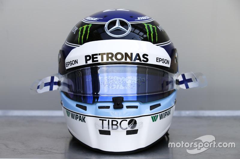 Special helmet for Monaco GP of Valtteri Bottas, Mercedes-AMG F1