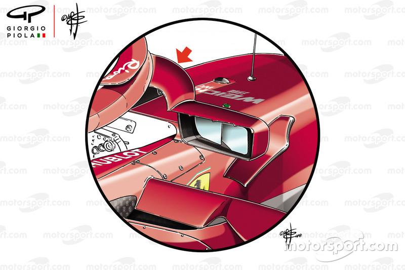 Ferrari SF71H spiegels Monaco GP