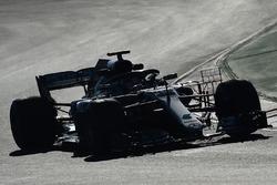 Lewis Hamilton, Mercedes-AMG F1 W09 con sensori aerodinamici