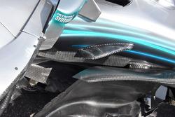 Mercedes AMG F1 W09, dettaglio della fiancata