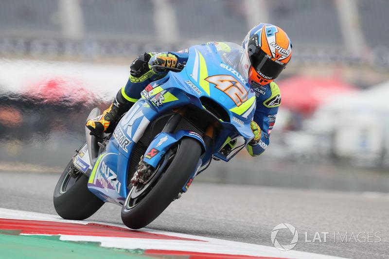 Sturz: Alex Rins, Team Suzuki MotoGP