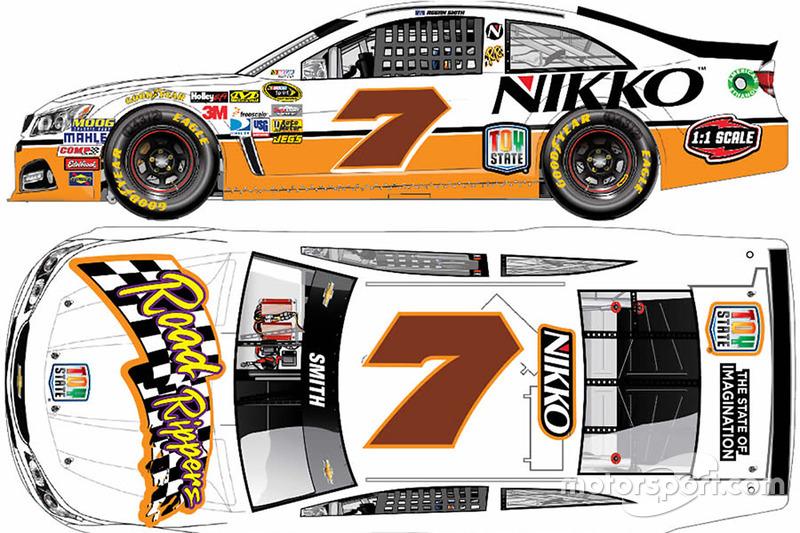Throwback-Design von Regan Smith, Tommy Baldwin Racing, Chevrolet
