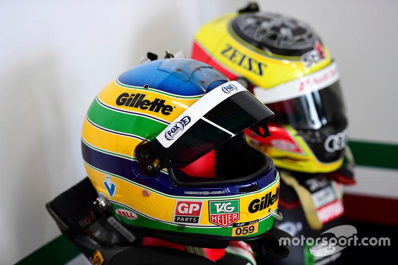 #43 RGR Sport by Morand Ligier JSP2 - Nissan: Bruno Senna helmet