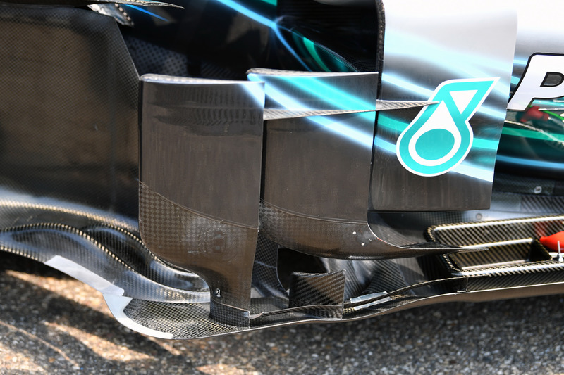 Mercedes-AMG F1 W09 barge board detail
