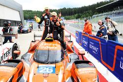 Les vainqueurs #26 G-Drive Racing Oreca 07 - Gibson: Roman Rusinov, Andrea Pizzitola, Jean-Eric Vergne