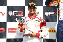 Podium: second place Kush Maini, Lanan Racing