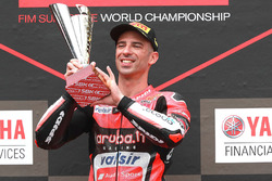 Podium : le vainqueur Marco Melandri, Aruba.it Racing-Ducati SBK Team