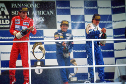Podium: 1. Alain Prost, Williams; 2. Ayrton Senna, McLaren; 3. Mark Blundell, Ligier