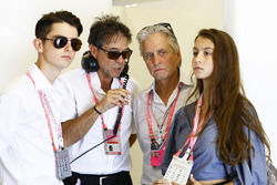Michael Douglas in the McLaren garage