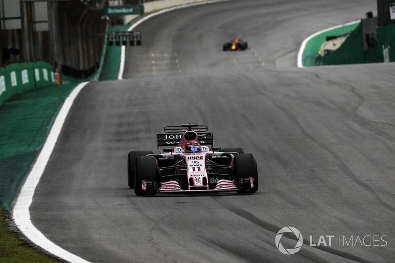 """9. Sergio Perez, Sahara Force India - """"Met een ronde meer had ik hen misschien kunnen inhalen"""""""